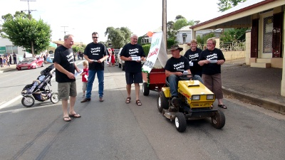 Totally Locally Eudunda committee readies to go in the Eudunda Street Parade for the first time.