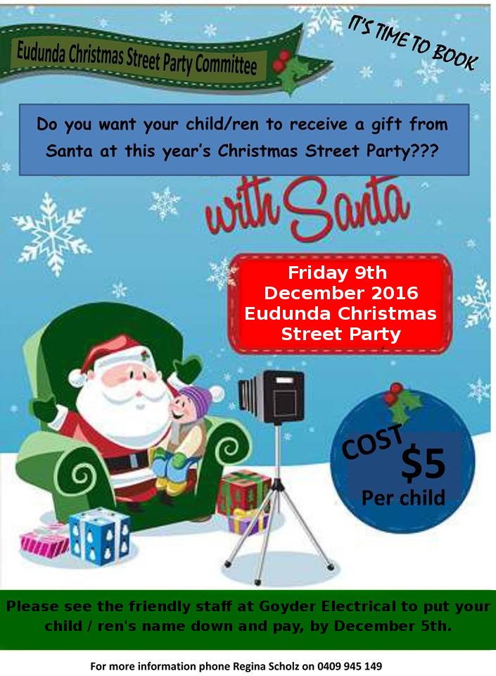 Book for Father Christmas flier 2016