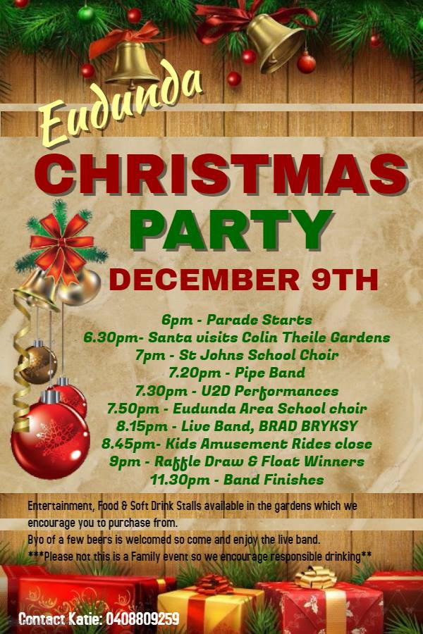Eudunda Christmas Street Parade & Party 9th Dec 2016