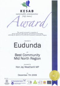 Eudunda Best Community Award December 2009