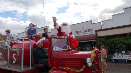Father Christmas on Firetruck