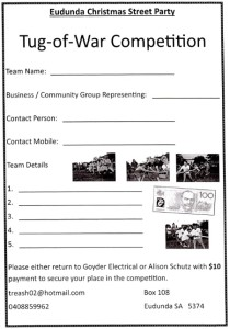 Tug of War Team Entry Form 2015