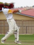John Mosey batting at Eudunda Oval