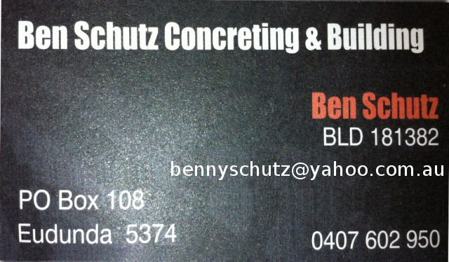 Ben Schutz Concreting & Building