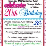 Country Fabrics 20th Birthday Celebrations - April 2014 - 20 percent off