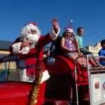 Father Christmas arrives at Eudunda Street Parade & Party 2014
