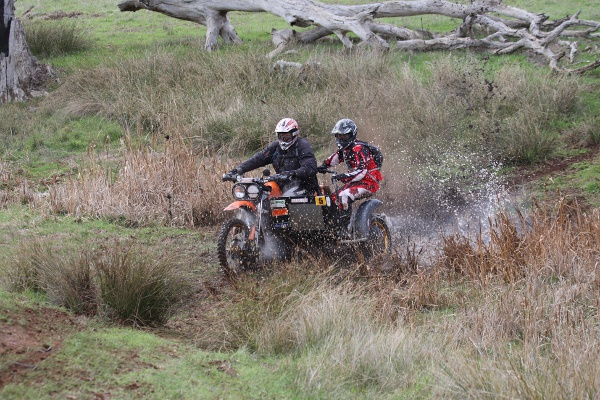Sidecar 5 Shane Noble-Matthew Greenham - water crossing Outright 82
