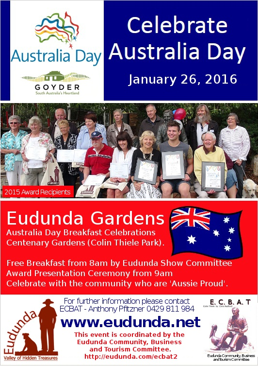 Australia Day Breakfast Flier - Eudunda 2016