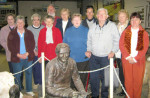 Heritage Gallery Committee pose with Colin Thiele Sculpture