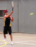 Jarred Mosey of the Brady Creek Tennis Club at Eudunda playing against Eudunda 16th Jan 2013