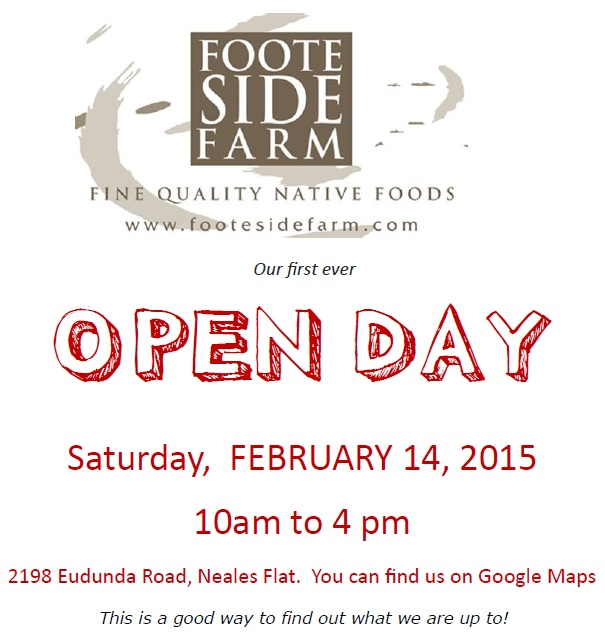 Footeside Farm Open Day Feb 14th 2015 - heading details
