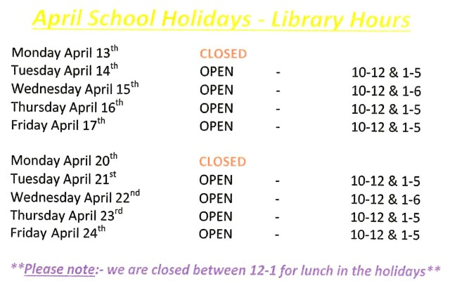 Eudunda Library - Holiday times April 2015