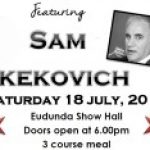Red White & Black Ball with Sam Kekovich selling fast