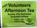 Free Volunteers Afternoon Tea - Sun 27th Sept 2015 thumbnail