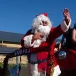 Father Christmas Wave from Eudunda Historic Fire Truck