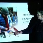 Kate Jenkins showing one of the processes
