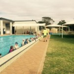 Eudunda Swimming Pool very busy - morning fitness session Jan 2016