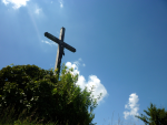 Easter Cross against Sky photo