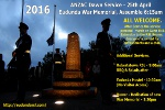 ANZAC Dawn Service Flier - Photo is of Eudunda - Memorial & Catafalque Party