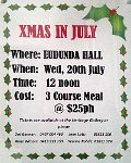 XMAS in July Flier - Eudunda Heritage Gallery 20th July 2016
