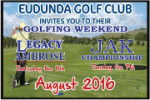 Legacy & JAK Golf Weekend 6th & 7th August 2016