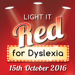 Light It Red For Dyslexia 2016