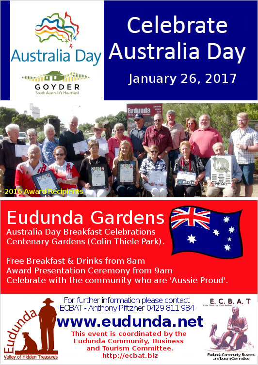 Australia Day Breakfast Eudunda 2017 Flier