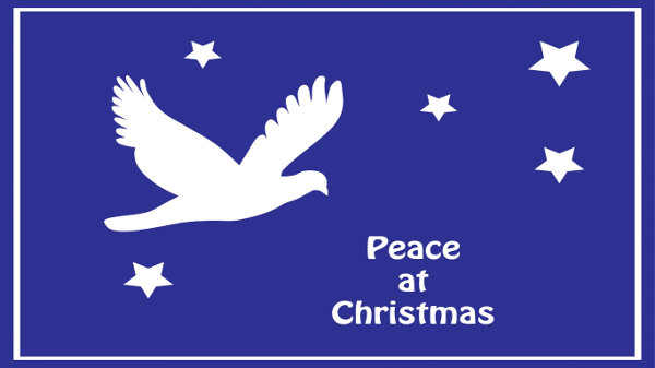 Dove Peace at Christmas