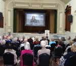 Probus Eudunda Meeting - Nov 2016 Behind the Group watching - Colin Thiele Video