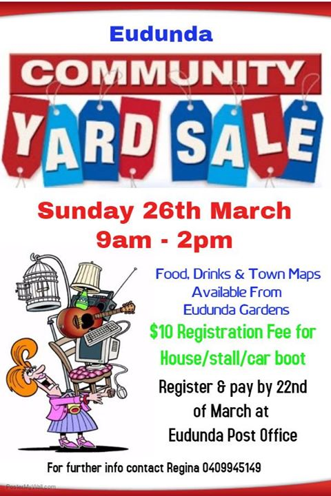Eudunda Community Yard Sale - 26th March 2017 - Flier