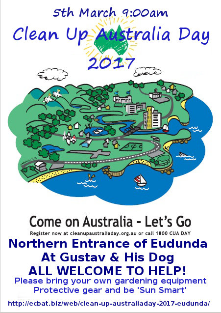 Eudunda - Clean Up Australia Day 2017 flier