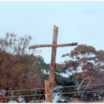 Cross on Fence