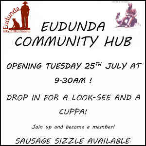 Eudunda Community Hub - Opening Flier 25th July 2017