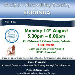 Business Networking Evening - Eudunda 14th Aug 2017 - Small Sq Banner