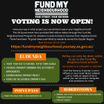 Fund My Neighbourhood – Vote for OUR REGIONS Projects