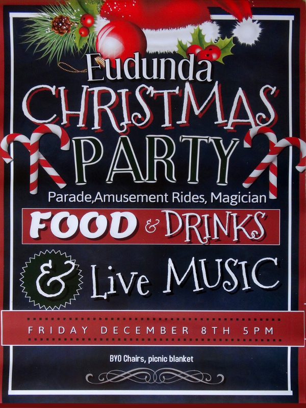 Eudunda Christmas Parade - 2017 - flier