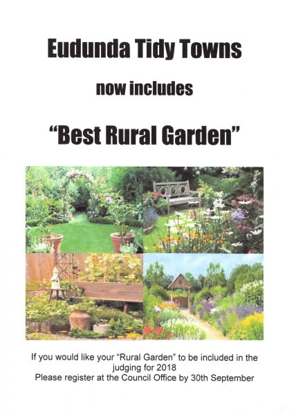 Eudunda Tidy Towns inc Best Rural Garden 2018