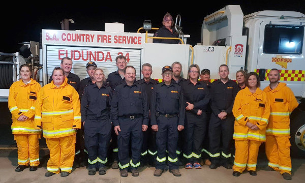 Eudunda CFS Volunteers new uniforms