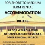 Local Housing for Rental Accommodation or Billets Wanted