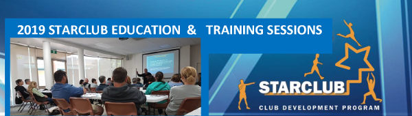 2019 Starclub Education & Training Sessions - Banner