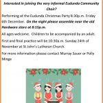 Join The Eudunda Community Choir On 6th Dec For Christmas