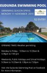 Eudunda Swimming Pool OPEN 11th Nov 2019