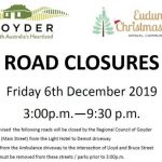 Road Closures Planned For Eudunda As Community To Celebrate Christmas 6th Dec