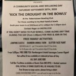 Kick the Drought in the Bowls – Robertstown Bowling Club – Sunday 18th Oct 2020