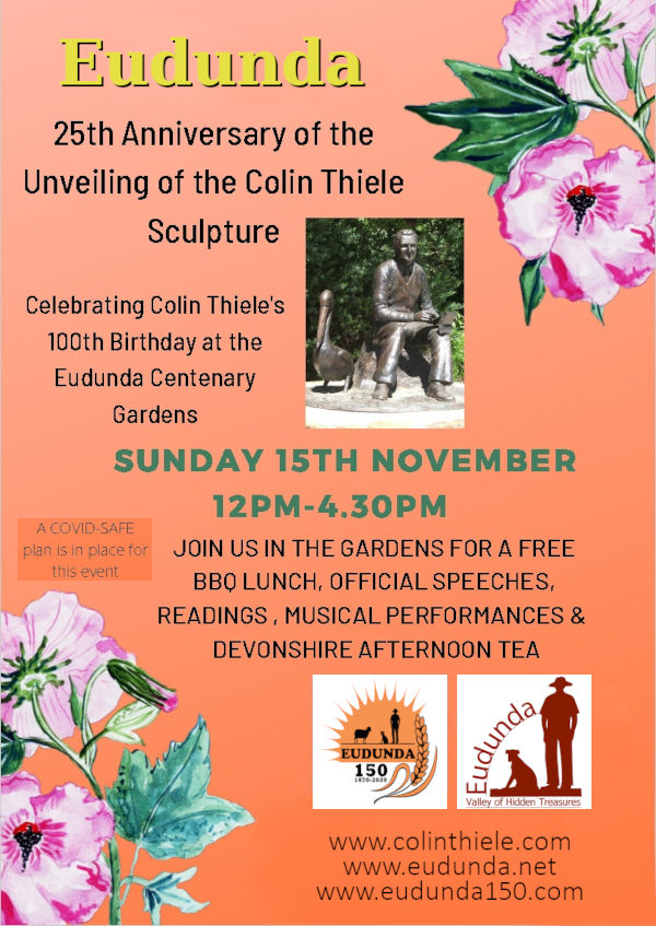 25th Anniversary Sculpture Unveiling and Colin Thieles 100th Birthday Celebrations
