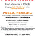 Important Meeting to Discuss Elector Representation Review – Wed 7th April