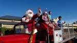Father Christmas arrives at the Eudunda Street Party